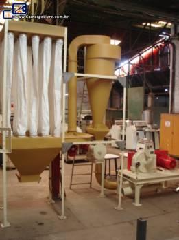 Sistema moagem de açúcar e filtro Netzsch