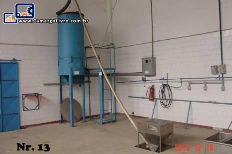 Conjunto secador / estufa / desumidificador de granulados em inox